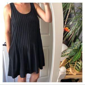 Club Monaco Pleated Silk Dress